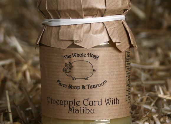 Pineapple Curd with Malibu