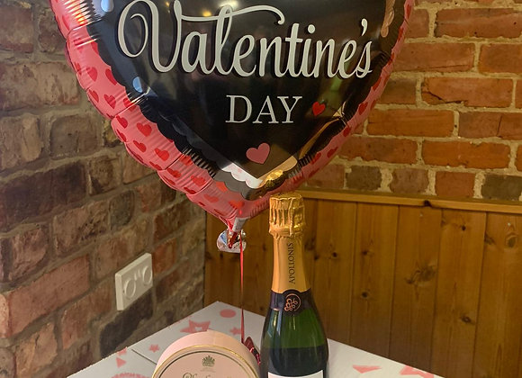 Valentines Balloon, Champagne and Truffles