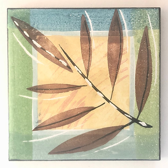 "6"" TWIG Decorative Ceramic Tile A7"