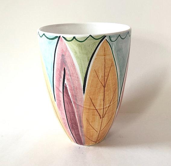 Tall Leaf Vase