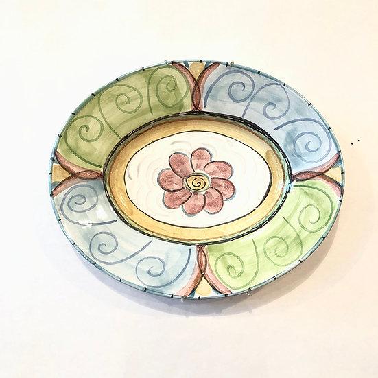 Floral Swirl Oval Platter