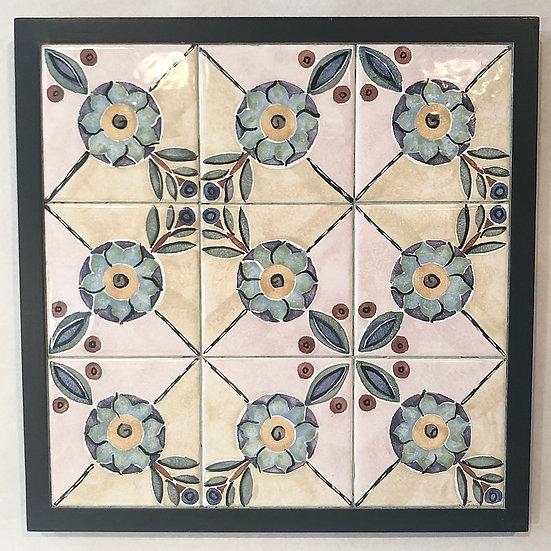 Dahlia framed Tile