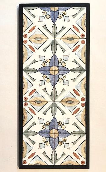Blue Floral Tile Repeat