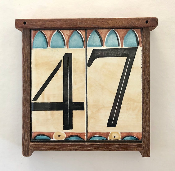Double House Number Frame