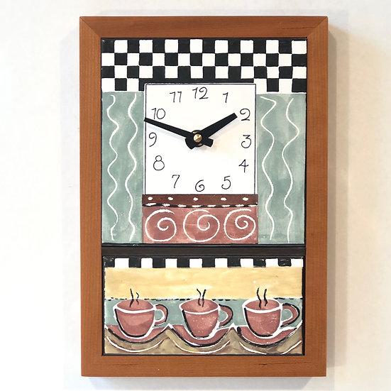 3 Cups Wall Clock