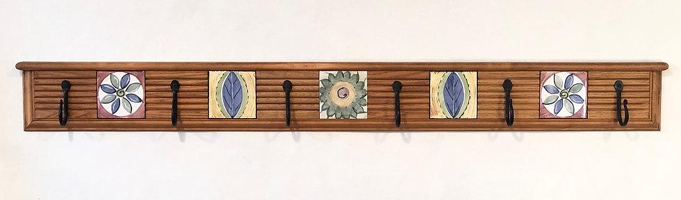 Multi-Flower & Leaf Tile Mosaic Hanger