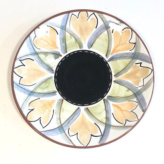 Tangerine Flower Platter