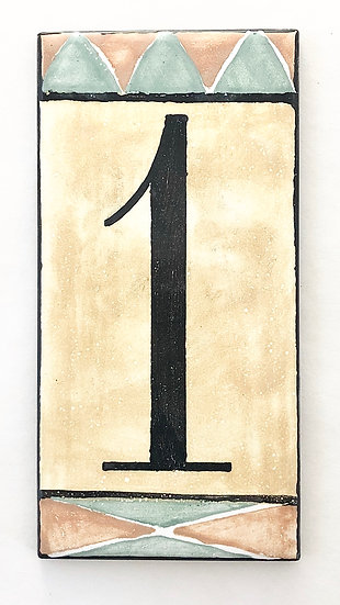 "3"" x 6"" Deep Gold House Number ""1"""