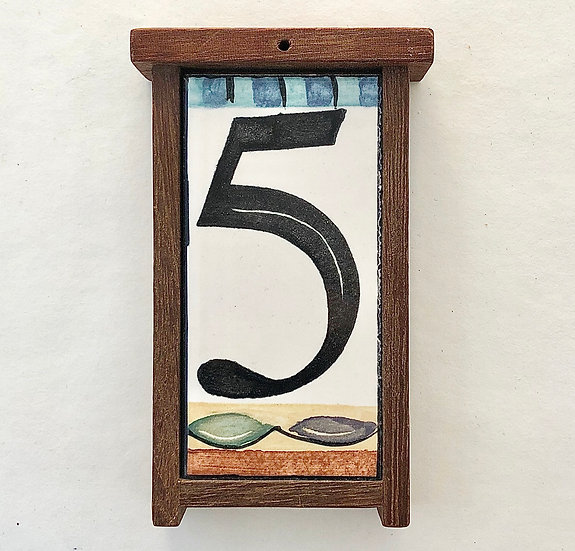 Single House Number Frame