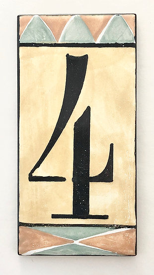 Yellow Gold House Numbers-Single Frame