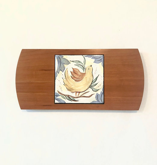 Bird Wood & Tile Serving Board