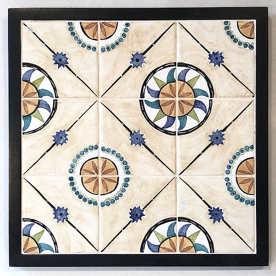 Pinwheels & Spurs Framed Tile