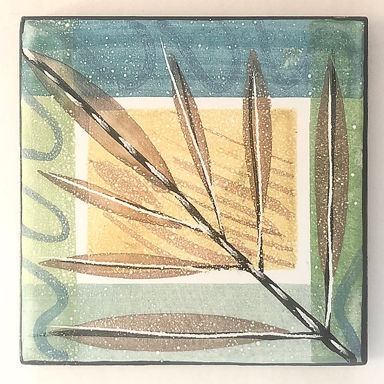 "6"" TWIG Decorative Ceramic Tile B2"