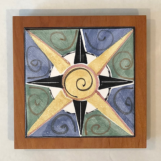 Compass Tile and Wood Frame