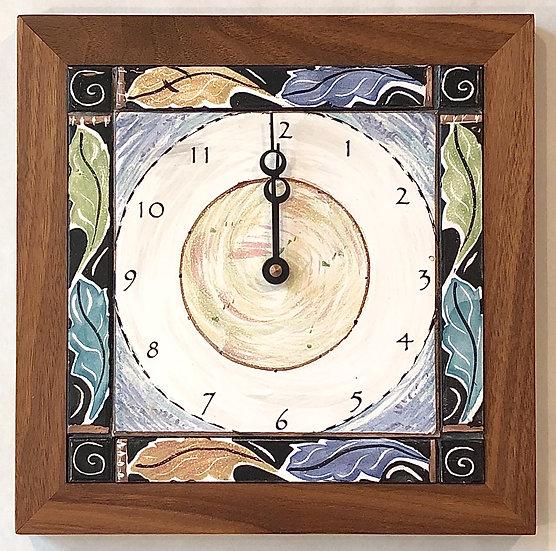 Leaf Border Wall Clock