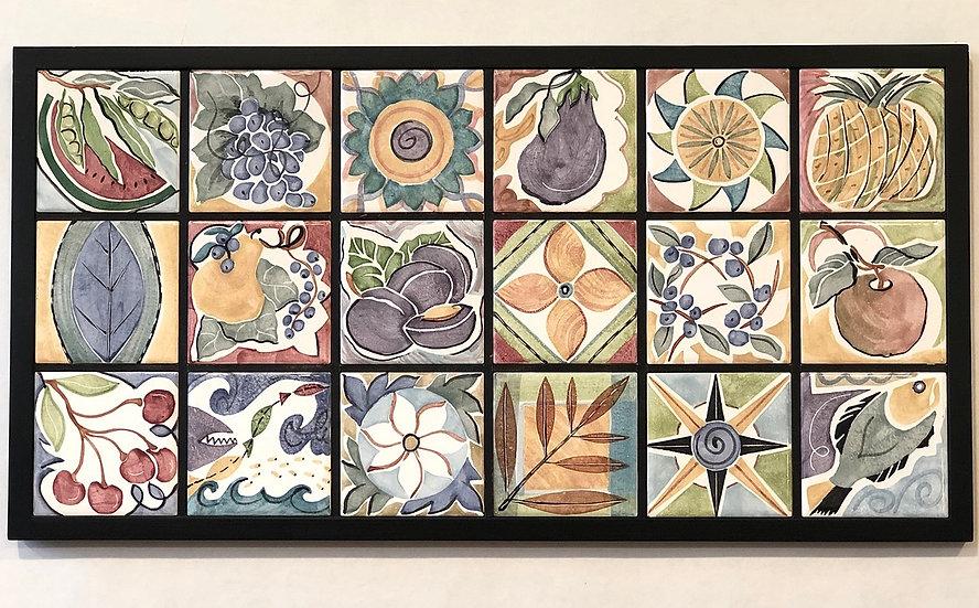 18 Tile Wall Panel