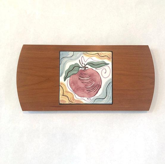 Apple Wood & Tile Serving Board