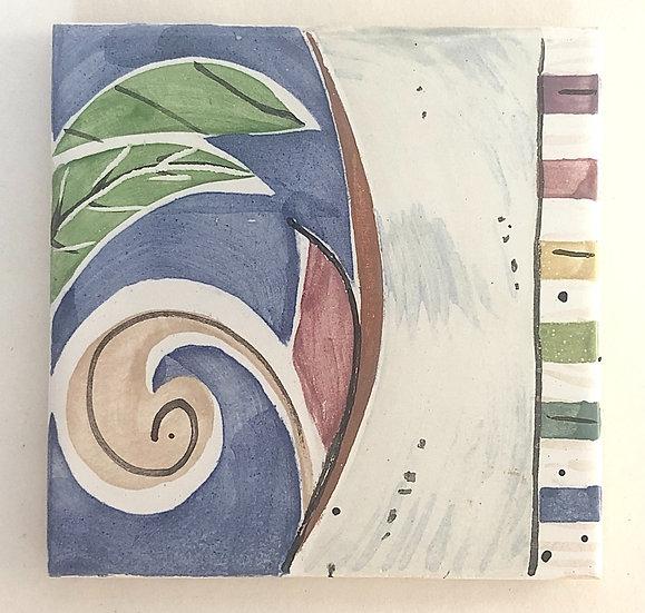 """4 1/4"""" Varietal Decorative Ceramic Tile A5"""