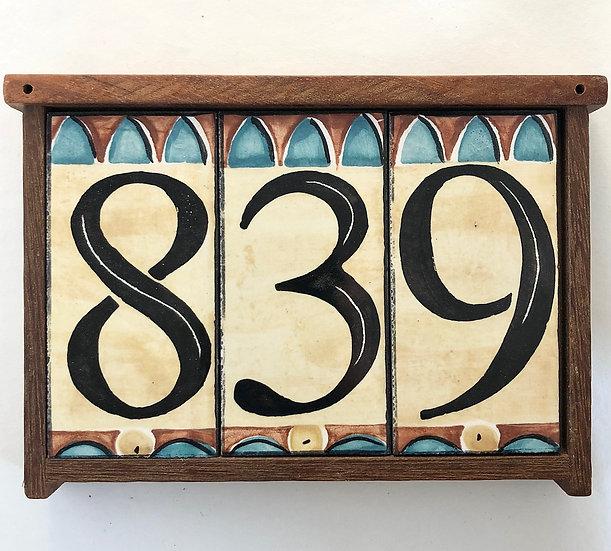 Triple House Number Frame