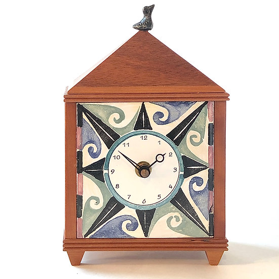 Compass Table Clock