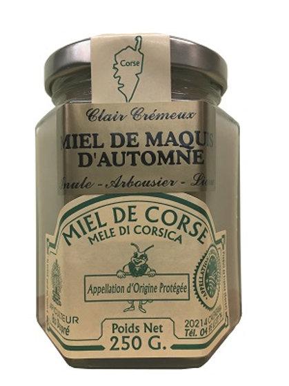 Miel de maquis d'automne arbousier 250gr AOP (Calenzana)