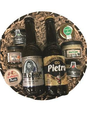 Panier garni rond bières Corse