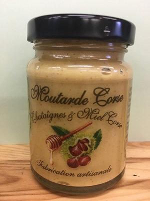 Moutarde à la chataîgnes et miel Corse 100gr