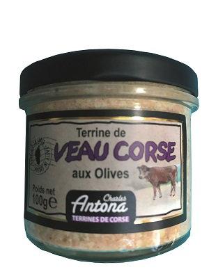 Terrine de veau corse aux olives 100gr
