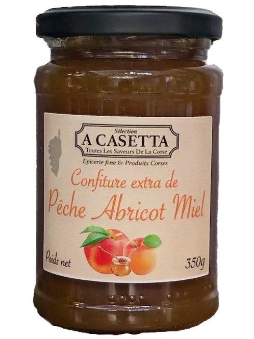 Confiture Pêche Abricot Miel de Corse 350gr