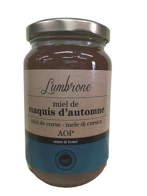 Miel d'arbousier Maquis d'automne 500gr AOP (Calvi)
