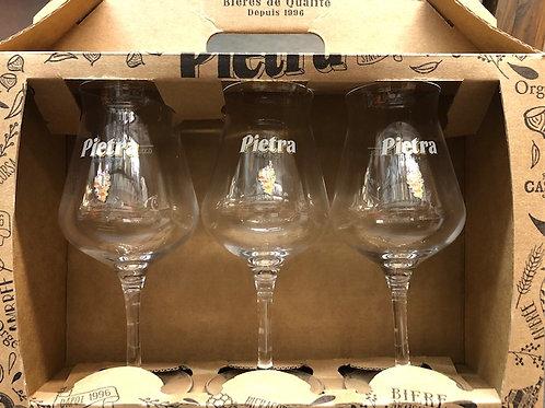 Trio verres 33cl Pietra