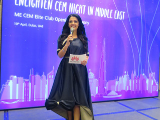 Rania Ali Presenting Huawei Middle East CEM launch event