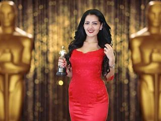 Rania Ali Presenting the Oscars of Dubai Chamber