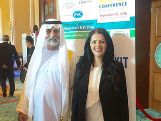 Rania Ali Presenting the CFO Conference in attendance of H.H. Sheikh Nahyan Bin Mubarak Al Nahyan