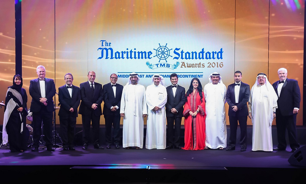 Rania Ali presenting The Maritime Standard Awards in the presence of His Highness Sheikh Ahmed bin Saeed Al Maktoum