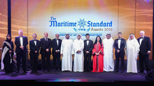 Rania Ali presenting The Maritime Standard Awards in the presence of His Highness Sheikh Ahmed bin S