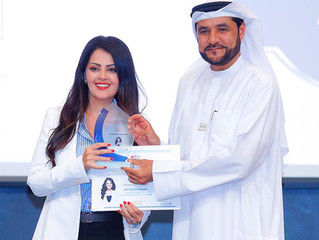 Rania Ali awarded and recognized by H.E Dr. Rashid Alleem, Chairman of Sharjah Electricity & Wat