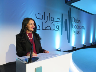 Rania Ali Presenting the Dubai Economy Talks for Dubai Department of Economic Development