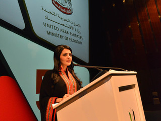 Rania Ali presents for the Ministry of Economy in the attendees of HH Sheikh Mohammed Bin Rashid Al