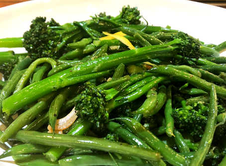 Sauteed Haricot Verts and Broccolini