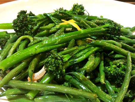 Sauteed Haricot Verts and Broccolini