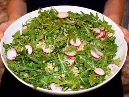 Arugula Salad with Pearl Couscous