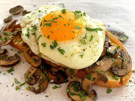 Egg and Mushroom Toast