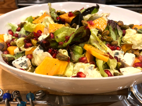 Holiday Persimmon-Pomegranate Salad