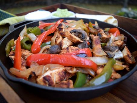 Chicken and Mushroom Fajitas