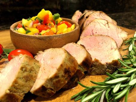 Herbed Pork Tenderloin with Pineapple Salsa