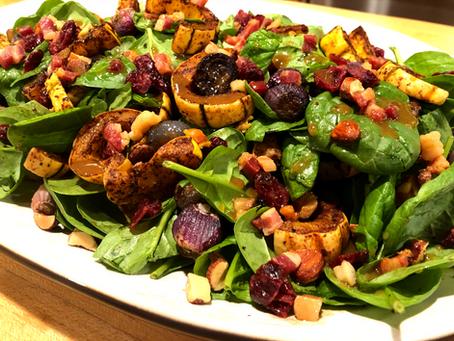 Spinach and Delicata Squash Salad