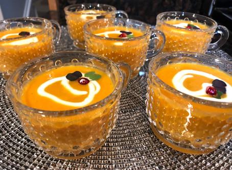 """Instant"" Carrot Soup Cocktails"
