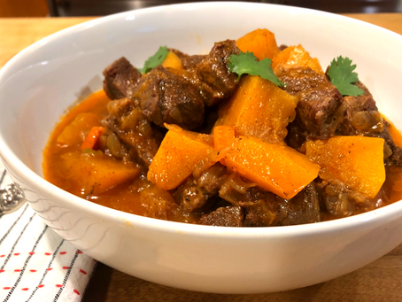 Tagine Style Beef and Butternut Squash Stew