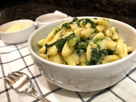 Cavatelli and Spinach